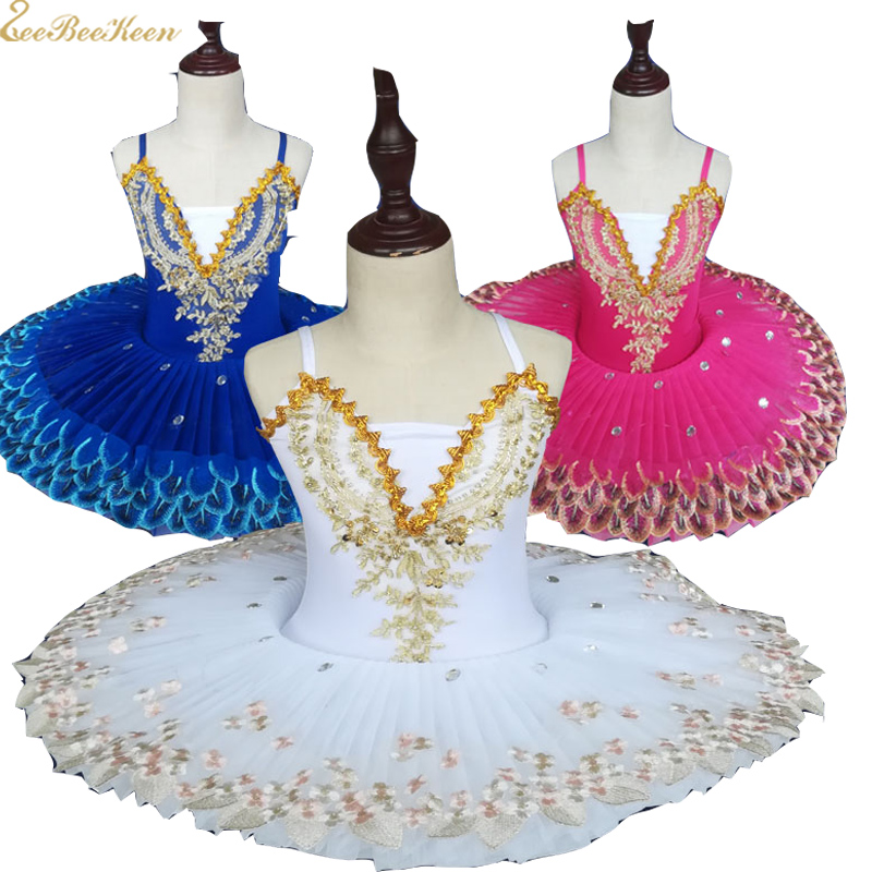 Girls Ballet Costume Professional Ballerina Dance Dress For kids Ballet Tutu flower Girls Ballet Stage Performance show