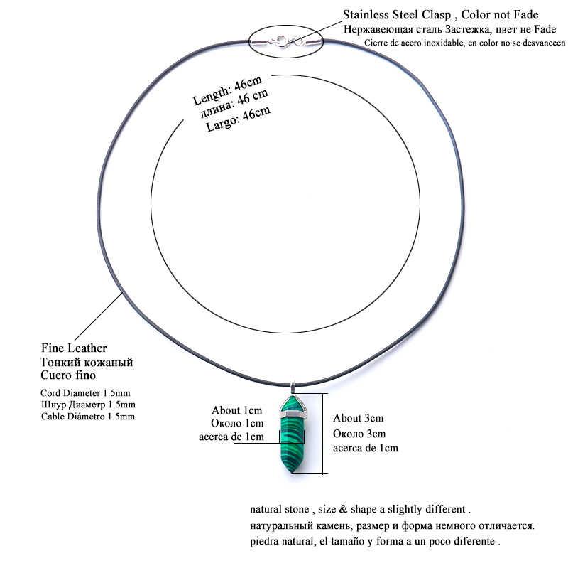 24 design natural verde aventurine opala quartzo pingente de cristal preto couro hexágono pingente crisocolo gargantilha colar jóias