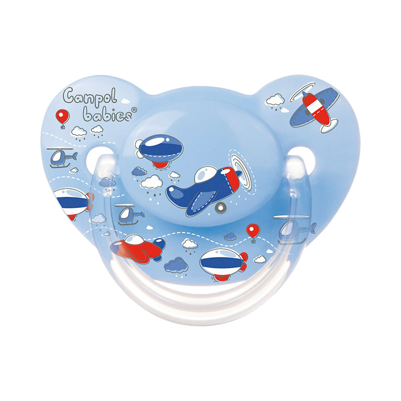 Pacifier Anatomical silicone 6-18 months, Machines, Blue feedkid синийцвет 6 9 months