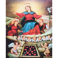5d diy diamond painting Madonna and angel picture 40x50cm diamond embroidery baby picture crafts sticker
