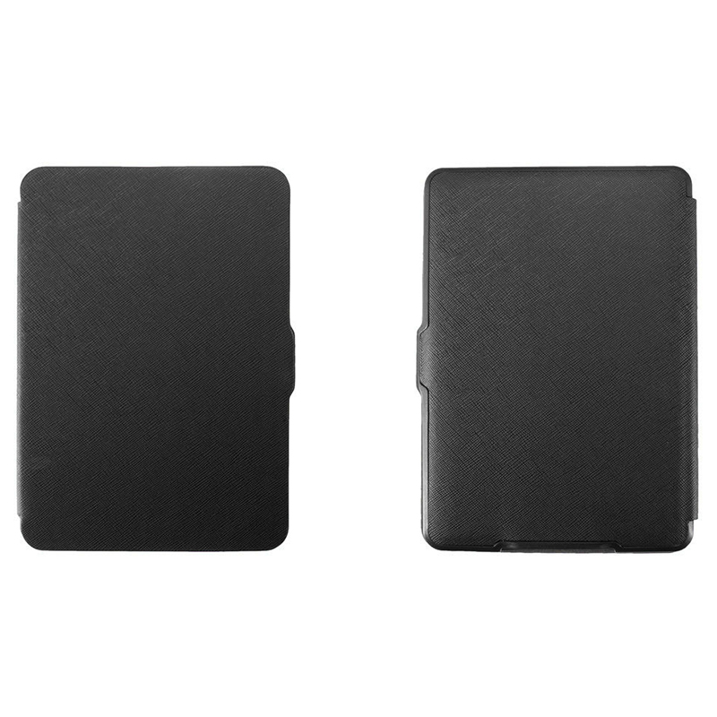 MOOL Magnetic PU Leather Cover Case Slim For Amazon Kindle Paperwhite (Cross Pattern, Black)