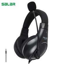 סאלאר A566N אוזניות אוזניות עם מיקרופון משחקי אוזניות עבור טלפונים מחשב מחשב הנייד