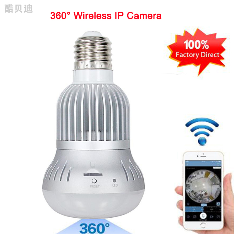 High Quality Wireless IP Camera Bulb Light Wifi FishEye Camera HD 960P 360 Degree Camera 1.3MP Home Security Baby Monitor