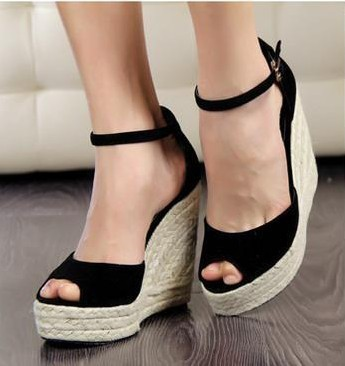 2016 Women sandals Elegant fashion women's open toe wedges sandals platform velvet platform wedges shoe high heels sandals women elegant wedges open toe women sandals ankle buckle rivet shoe women cross tied women casual shoes rome hollowed out lady sandals