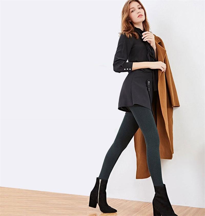 NORMOV Women's Winter Plus Cashmere Leggings Fashion Big Size Warm Super Elastic Faux Velvet Winter Thick Slim Leggings 7