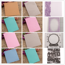 Scrapbooking Paper Crafts Cards Making 9 Designs DIY Photo Album Decoration Plastic Embossing Folder Stencils Template Molds(China)