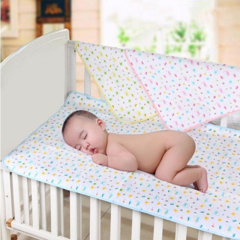Baby Luier Aankleedkussen Katoen Ecologic Luier Veranderende Tafel Cartoon Baby Waterdichte Matras Laken Baby Verandering Mat Cover