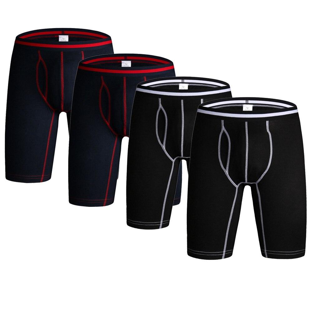 4pcs/lot Long Leg Boxer Shorts Cotton Hommes Male Underwear Boxers Men Underpants Sexy Men's Panties Breathable