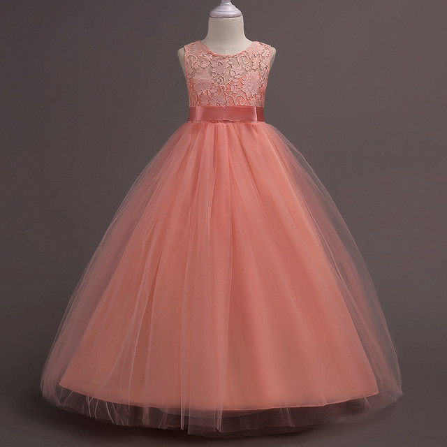 ילדים בנות שמלת חמוד צבע ללא שרוולים נסיכת שמלת מעגל קוריאני אופנה בגדי ילדים חדש