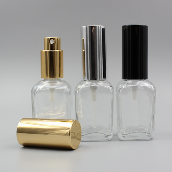 30ml clear spray bottle cosmetic with gold/silver/black mist spray pump, 30ml cosmetic glass container