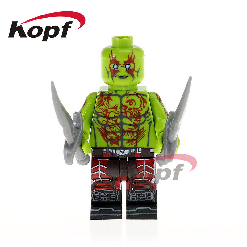 Single Sale PG1179 Guardians Of The Galaxy Drax The Destroyer Hatsune Miku Predator Alien Building Blocks Toys for children Gift