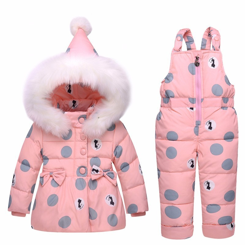 Image 5 - 2019 new Winter children clothing sets girls Warm parka down jacket for baby girl clothes children's coat snow wear kids suit-in Clothing Sets from Mother & Kids