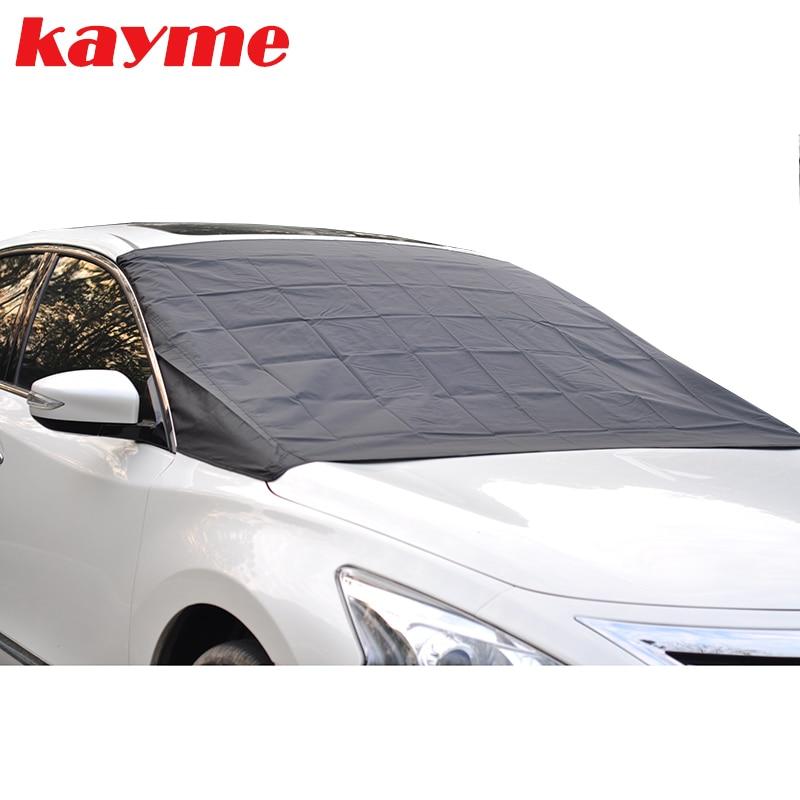 Kayme auton tuulilasi aurinkovarjo automaattinen magneettinen tuulilasinsuojaus pakkasenkestävä lumi jää tuulilasi aurinkovarjo BMW lada toyota