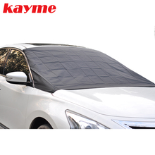 Kayme car window sunshade half cover auto magnetic windshield protector anti frost snow ice windscreen covers for sun
