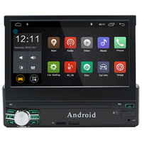 Universal 7 inch 1080P Single Din Retractable Android 6.0 Car DVD Player Digital touch screen Car Media Player 1GB+16GB