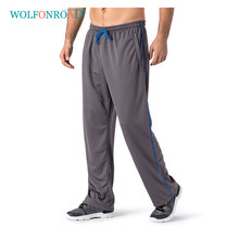 WOLFONROAD Men Running Pants Fitness Yoga Sport Trousers Mesh Breathable Gym Pants Outdoor Hiking Camping Pants Training Pants