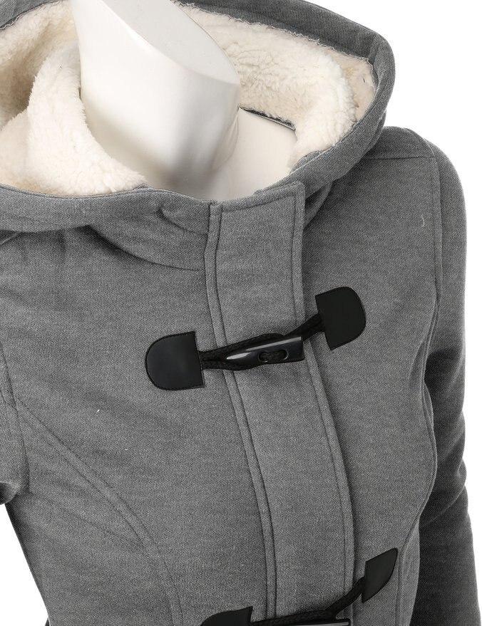 e1db52ae9a6b Aliexpress.com   Buy 2018 Winter Jacket Women Hooded Winter Coat Fashion  Autumn Women Parka Horn Button Coats Abrigos Y Chaquetas Mujer Invierno  from ...