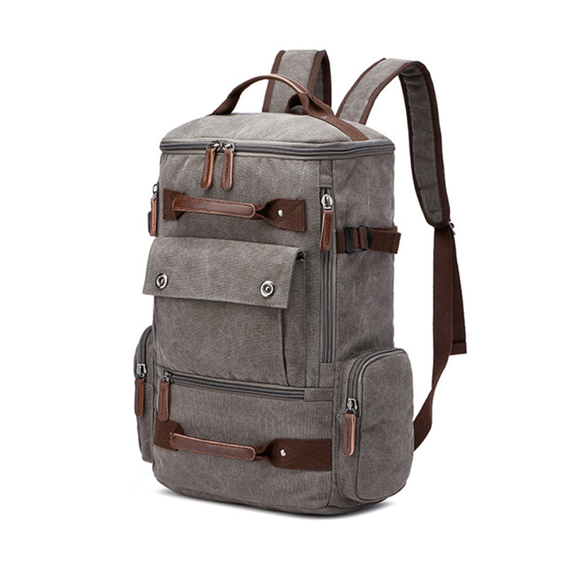 Image 5 - mens backpack vintage canvas backpack school bag mens travel  bags large capacity backpack  laptop backpack bag high qualitBackpacks