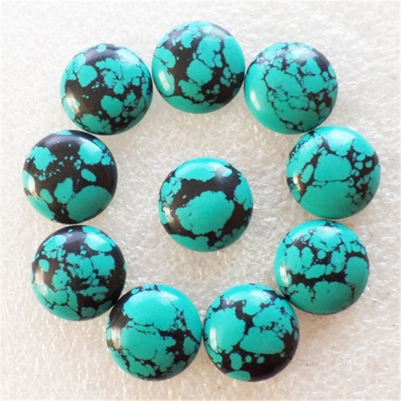 (10 Pieces/lot) Wholesale Natural Turquoises Round CAB Cabochon 16x5mm Free Shipping Fashion Jewelry J179