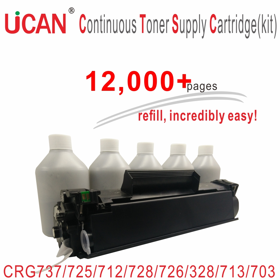 for Canon CRG 737 725 712 728 726 713 703 103 FX10 FX9 Laser Printer Toner Cartridges UCAN CTSC kit 12000 pages high quality black laser toner powder for canon crg 305 crg 527 crg305 lbp8630 lbp8620 lbp8610 1kg bag printer