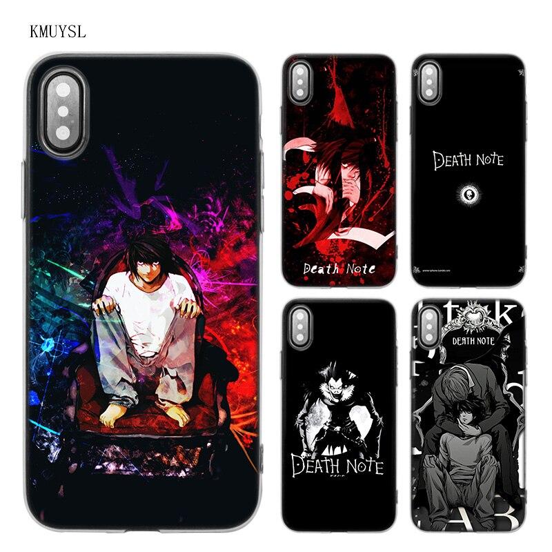 KMUYSL Death Note Anime TPU Transparent Soft Case Cover