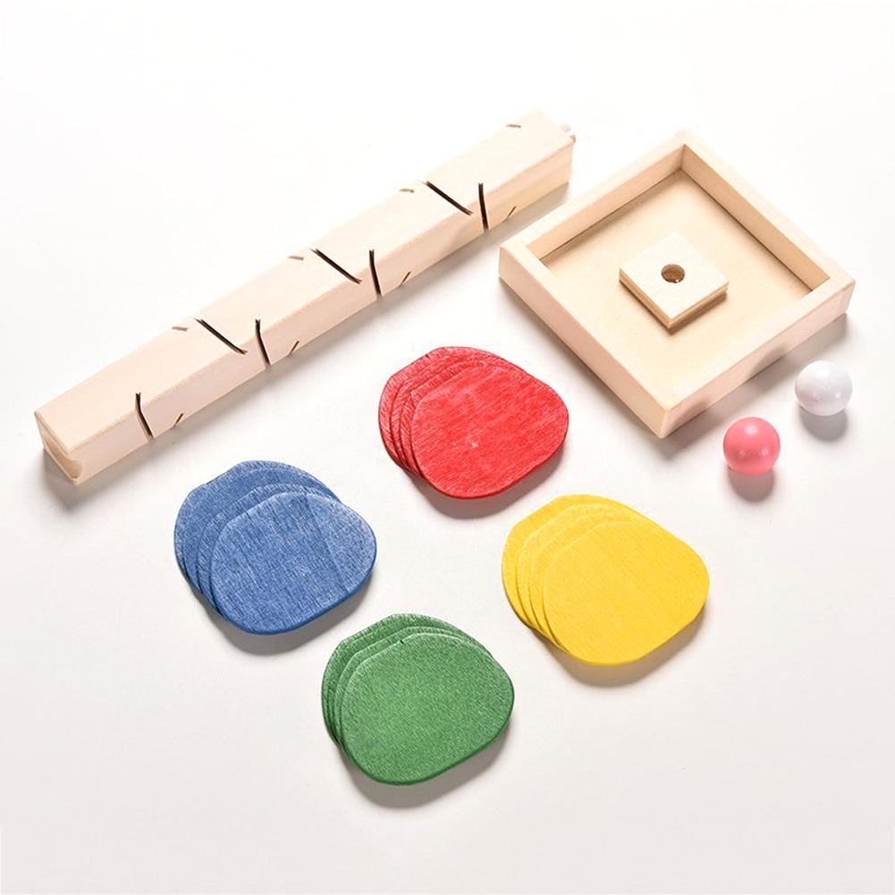 Marble Game Blocks : Wooden educational building blocks tree