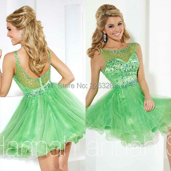 Vestidos de fiesta color verde manzana