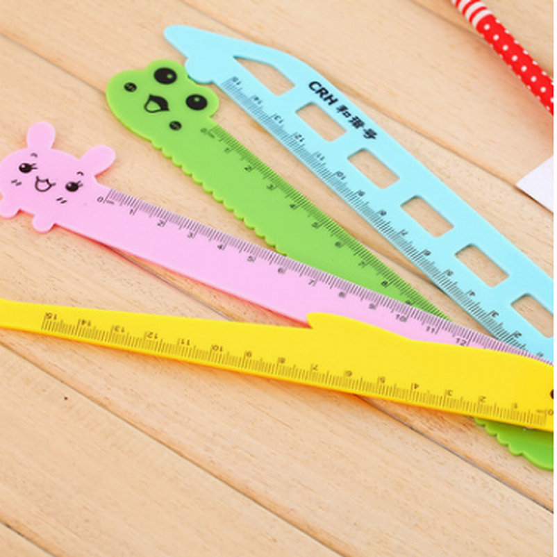15cm Cute Animals Cartoon Plastic Ruler Measuring Straight Ruler Tool Promotional Gift Stationery