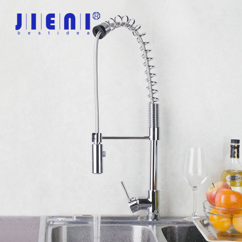 Brand New 8550-1 Pull Out/Down Vessel Sink Basin Mixer Tap With Push Button Chrome Kitchen Faucet good quality wholesale and retail chrome finished pull out spring kitchen faucet swivel spout vessel sink mixer tap lk 9907