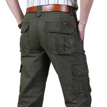 Pantalones cargo para hombres Pantalones largos de algodón casual