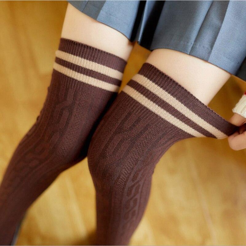 Women Yoga Socks Over Knee Long Socks Knitted Leg Warmer Dance Socks Leggings