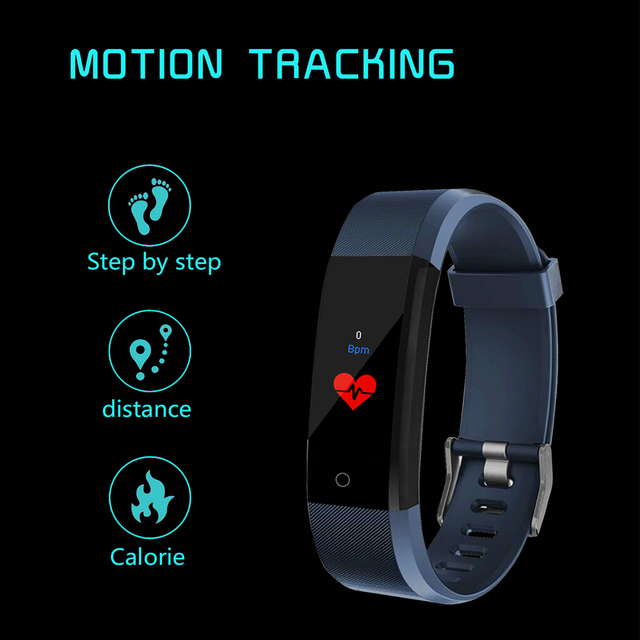 Smart Wristband fitness tracker Watch Health Heart rate band Blood Pressure Waterproof Smart Bracelet for