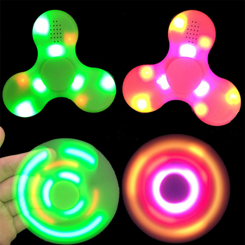 4 Colors LED Bluetooth Speaker Music Fidget Spinner EDC Hand Spinner For Autism And Kids Adult