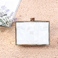 Luxury Natural Shell frame Handbags Day Cutch Bow Acrylic Evening bags Mini Crossbody bags chain wallet Lady Party Wedding Purse