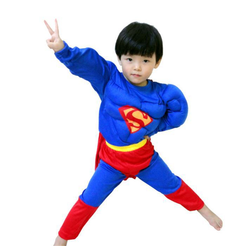 2017 kids superman muscle costume cosplay cool muscle superhero muscle children cosplay boys halloween costumes clothes - Baby Boy Halloween Costumes 2017
