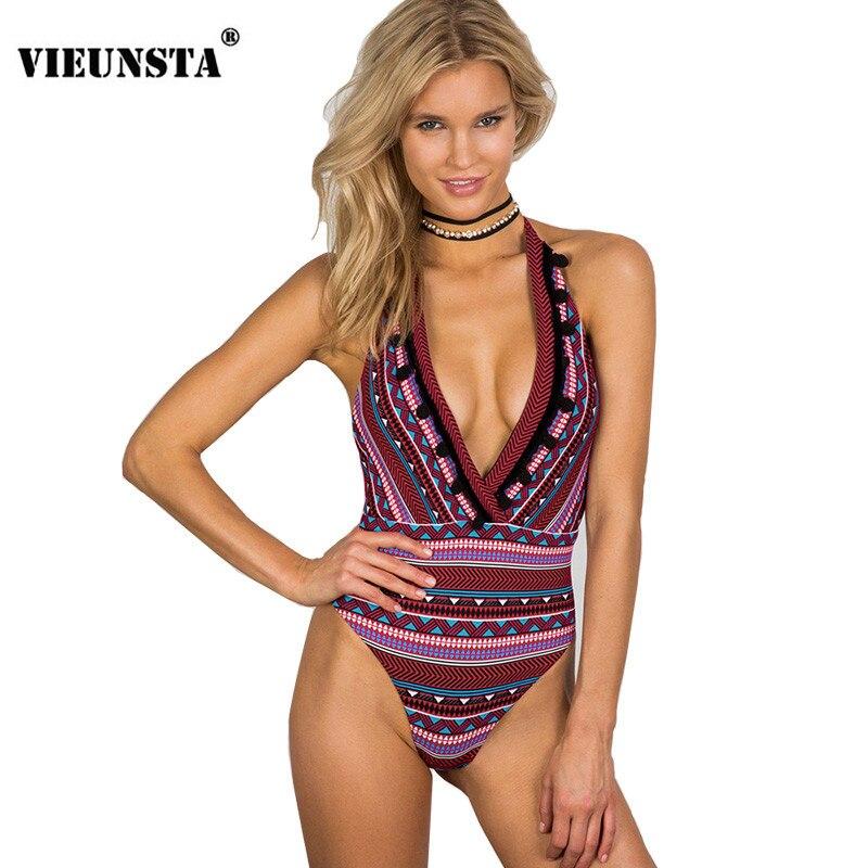 VIEUNSTA 2018 New Striped Bikini Set Women Spagetti Strap Tankini Swimsuit Pregnant Swim ...