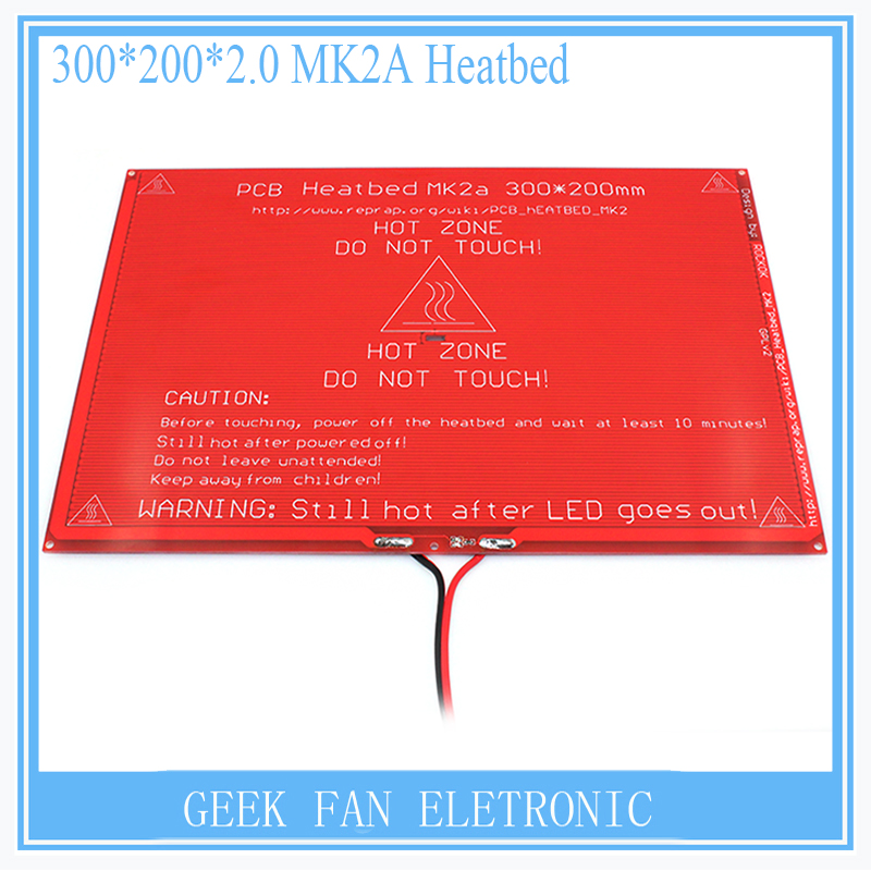 Bigger New PCB Heatbed MK2A with led Resistor and cable for 3D printer RepRap RAMPS 1