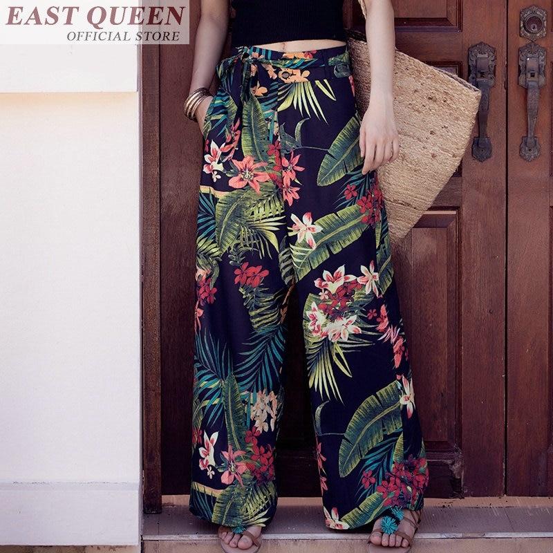 Boho hippie chic beach bohemian Palazzo culotttes femme   wide     leg     pants   women female ladies   pants   trousers DD769 a