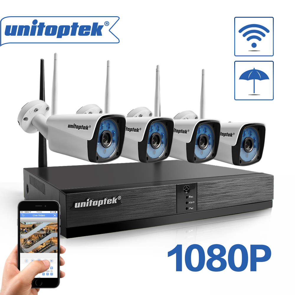 ANNKE 1080P Wireless 4CH NVR IP Network 4x 2MP WIFI Security Camera System 500GB