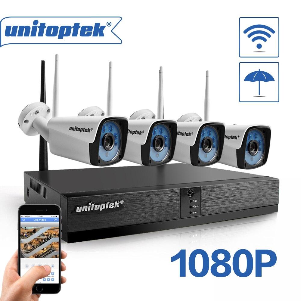 4CH H.265 bezprzewodowy NVR system CCTV 1080P kamera IP WIFI odkryty Bullet IR Night Vision 4 kanałowy CCTV bezpieczeństwa w domu zestaw kamery w Systemy nadzoru od Bezpieczeństwo i ochrona na  Grupa 1