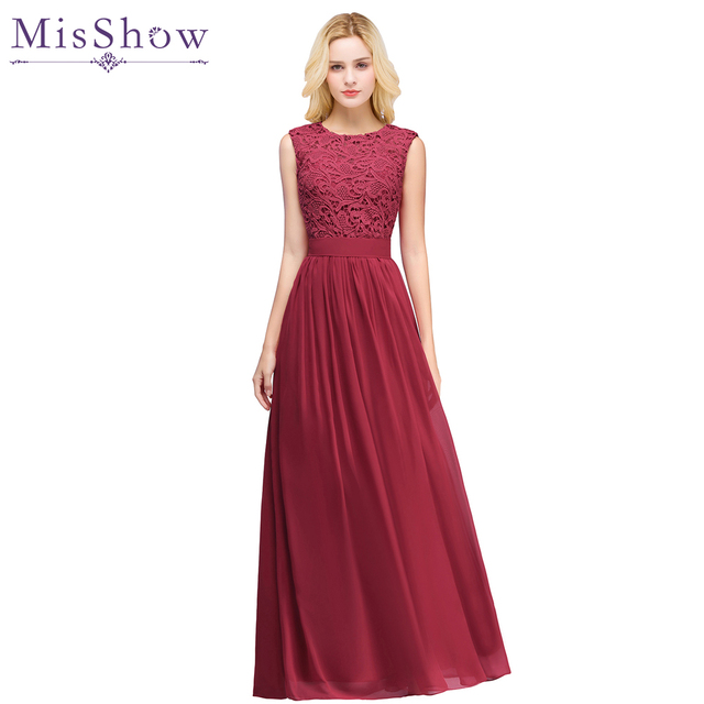 pink burgundy prom dresses LongRobe De Soiree Sexy illusion Back New Chiffon  Evening Dresses Party Gowns Vestido De Festa 2019 dda1e376b726