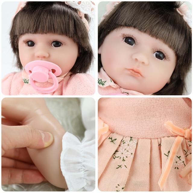 Bebida de leite! 43 centímetros suave silicone renascer baby dolls com corpo de silicone lol bonecas para as meninas do bebê de menina bebê surpresa