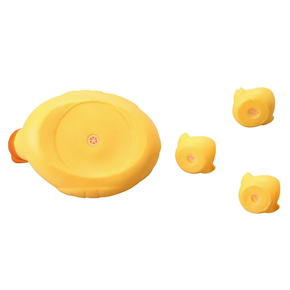 Toy Kid Cute Rubber Ducks Mummy And Baby Rubber Race Squeaky Ducks Family Bath Toy Kid Game 1 Big 3 Small Duck Taking Shower Toy