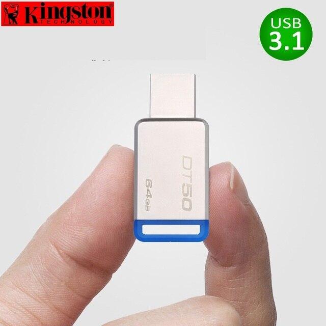 Kingston USB Flash Drive Pendrive 8gb 16gb 32gb 64gb 128gb USB 3.1 Pen Drive Disk Metal cle USB 3.0 Flash Memory Stick U Disk