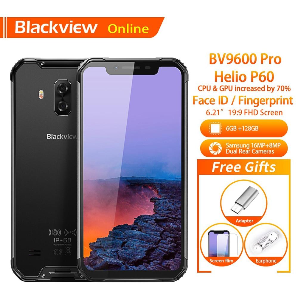 Blackview BV9600 Pro D'origine 6.21 pouces Étanche smartphone robuste Android 8.1 6 GO + 128 GO 5580 mAh Plus Forte En Plein Air téléphone portable