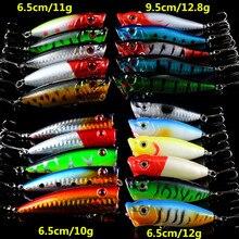 Hot 21pcs/lot Fishing Lures Lifelike Hard Baits Artificial Make Bass Crankbait Fishing Tackle Mixed 4 Model Popper Bait
