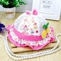 New Korean baby girls hat cherry princess basin cap baby hat baby sun hat