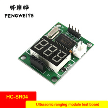 Panel Ultrasonic Ranging Module Test Board Provides 5V/3.3V Test Board Test HC-SR04 Display Rangefinder