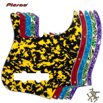 цена на Pleroo Custom Quality Pickguard - For US 10 Holes 4 String Standard Jazz Bass Guitar Pickguard Scratch Plate