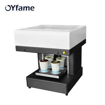 OYfame Coffee Printer Automatic 4 cup Art Coffee Printer Latte Printing Machine For Cake Chocolate Dessert Biscuits Milk Tea фото